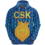 CSK Zip Hoodie Cricket Traditional Pride - Blue