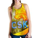CSK Women Racerback Tank Cricket Universe Energy Vibes K8