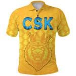 CSK Polo Shirt Cricket Traditional Pride - Yellow