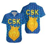 CSK Hawaiian Shirt Cricket Traditional Pride - Blue