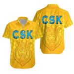 CSK Hawaiian Shirt Cricket Traditional Pride - Yellow