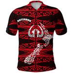 Aotearoa Polo Shirt Heart Hei Matau Red K12
