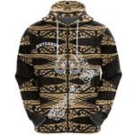 Aotearoa Zip Hoodie Heart Hei Matau Gold K12