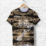 Aotearoa T Shirt Heart Hei Matau Gold K12
