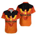 Orange Army Hawaiian Shirt Cricket - Orange
