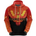 Orange Army Zip Hoodie Cricket Orange Vibes - Black