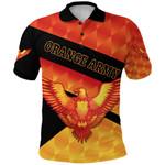 Orange Army Polo Shirt Cricket Sporty Style