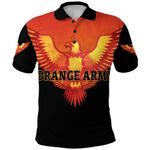 Orange Army Polo Shirt Cricket - Black