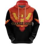 Orange Army Hoodie Cricket - Black