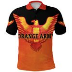 Orange Army Polo Shirt Cricket Black Vibes - Orange