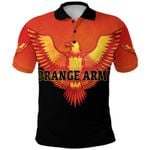 Orange Army Polo Shirt Cricket Orange Vibes - Black