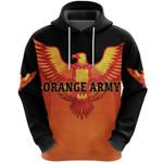 Orange Army Hoodie Cricket Black Vibes - Orange