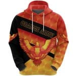 Orange Army Hoodie Cricket Sporty Style