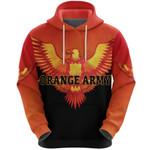 Orange Army Hoodie Cricket Orange Vibes - Black