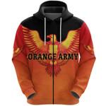 Orange Army Zip Hoodie Cricket - Orange