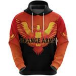Orange Army Hoodie Cricket Cool Vibes - Black