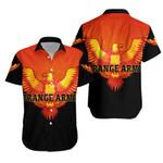 Orange Army Hawaiian Shirt Cricket - Black