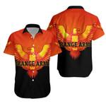 Orange Army Hawaiian Shirt Cricket Orange Vibes - Black