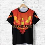 Orange Army T Shirt Cricket - Black