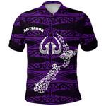 Aotearoa Polo Shirt Heart Hei Matau Violet K12