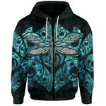 Dragonfly Paua Shell Hoodie Mix Maori Tattoo TH4