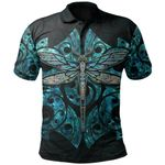 Dragonfly Paua Shell Polo Shirt Mix Maori Tattoo