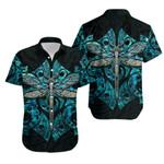 Dragonfly Paua Shell Hawaiian Shirt  Mix Maori Tattoo