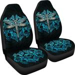 Dragonfly Paua Shell Car Seat Covers Mix Maori Tattoo TH4