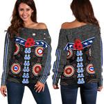 Australia Indigenous Off Shoulder Sweater New Zealand Maori Kiwi | 1st New Zealand
