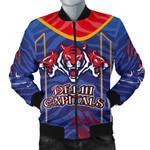 India Premier Men Bomber Jacket Cricket Delhi Capitals Version DC Front   rugbylife.co