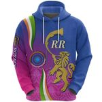 India Cricket Hoodie Rajasthan Royals Version RR Front | rugbylife.co