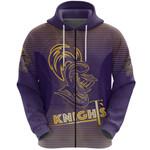 Kolkata Cricket Zip Hoodie Knight Version KKR Front | rugbylife.co