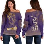 Kolkata Cricket Off Shoulder Sweater Knight Version KKR | rugbylife.co