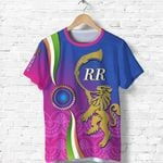 India Cricket T Shirt Rajasthan Royals Version RR Front | rugbylife.co