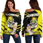 Richmond Premier Women Off Shoulder Sweater Tigers