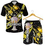 Combo Polo Shirt and Men Short Richmond Premier Tigers Dotted