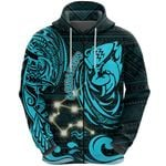 Aquarius Zodiac Zip Hoodie Style Polynesian Tattoo Front | 1st New Zealand