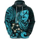 Aquarius Zodiac Hoodie Style Polynesian Tattoo Front| 1st New Zealand