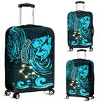 Aquarius Zodiac Luggage Covers Style Polynesian Tattoo | 1st New Zealand
