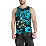 Aquarius Zodiac Men Tank Top Style Polynesian Tattoo Front | 1st New Zealand