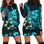 Aquarius Zodiac Women Hoodie Dress Style Polynesian Tattoo   1st New Zealand