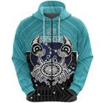 Cancer Zodiac Zip Hoodie Style Polynesian Tattoo Front | 1st New Zealand