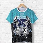 Cancer Zodiac T Shirt Style Polynesian Tattoo Front | 1st New Zealand
