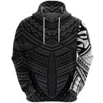 Maori Samoan Tattoo Hoodie White Version K12