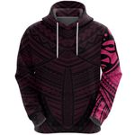 Maori Samoan Tattoo Hoodie Pink Version K12