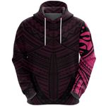 Maori Samoan Tattoo Zip Hoodie Pink Version K12