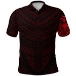 Maori Samoan Tattoo Polo Shirt Red Version K12