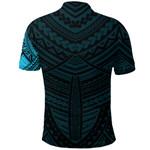 Maori Samoan Tattoo Polo Shirt Blue Version K12