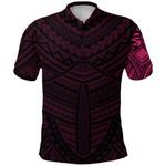 Maori Samoan Tattoo Polo Shirt Pink Version K12