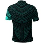 Maori Samoan Tattoo Polo Shirt Turquoise Version K12